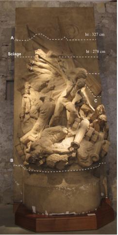 Méthodologie Paul Verdier Valmy 1792, Jules Desbois, 1926, modèle. Plâtre Relevé des plans d'assemblages du relief.