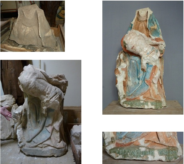 conservation restauration pierre polychromée Tours 37
