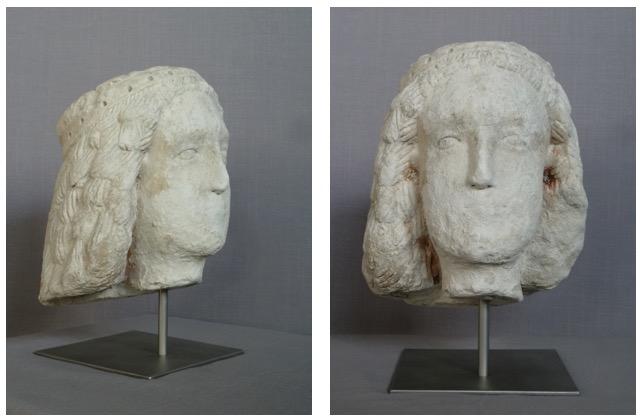 Tête, pierre calcaire