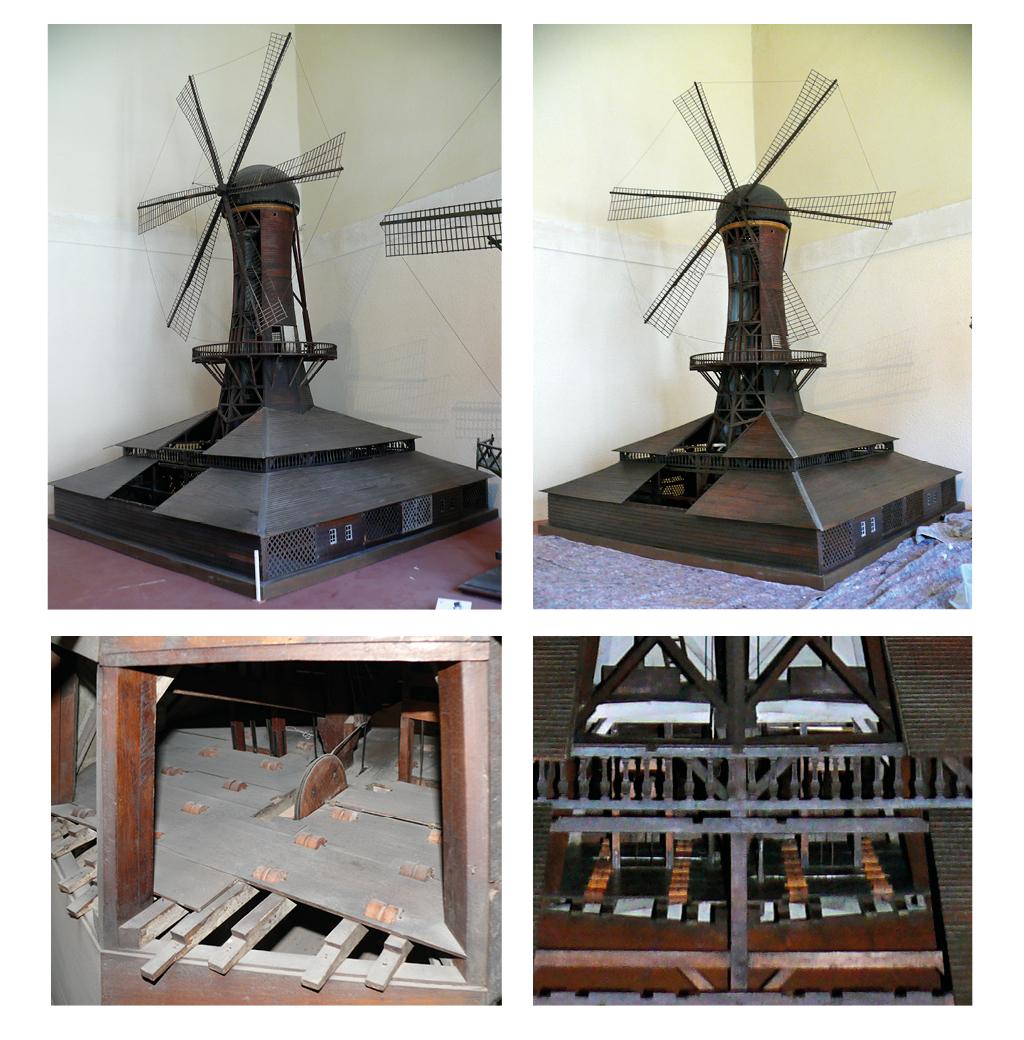 Restauration de 2 maquettes de moulins