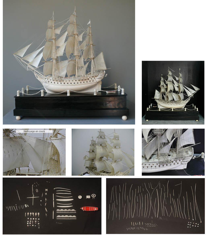 restauration maquette ivoire